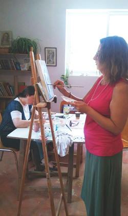 ילנה בשיעור ציור