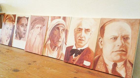 ציורי דיוקנאות של אנשים מפורסמים