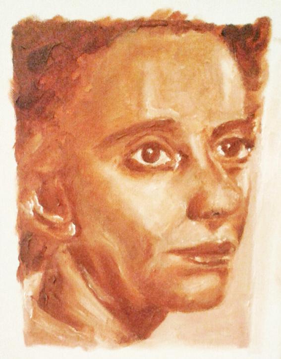 ציור בצבעי שמן - לאה גולדברג