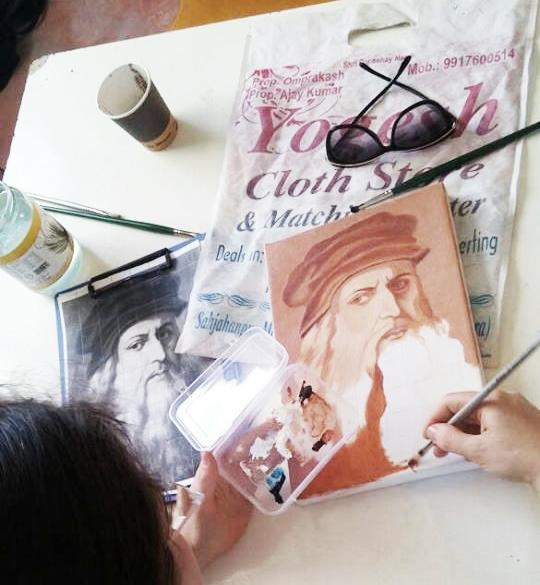 ציור בצבעי שמן - לאונרדו דה וינצ'י