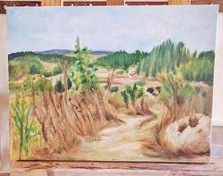 ציור נוף בצבעי שמן