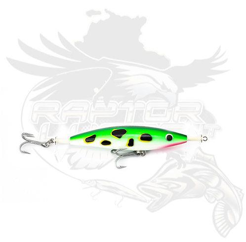 """115mm Raptor Fizz Bait """"Lime Frog"""""""
