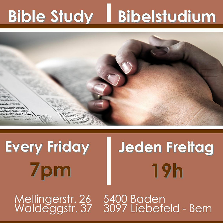 Friday Bible Study Zoom & Live