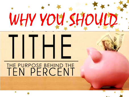 TITHE (2): Why You Should Tithe?