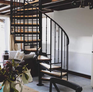 Hillside Lodge Downstairs with Spiral Stairs