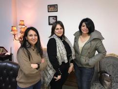الأستاذة أميمة شكري رئيس إذاعة راديو مصر والإعلامية إيمان العقاد والأستاذة سلمى زلط