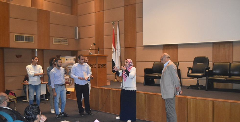 Project presentation at the second youth meeting.