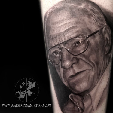 Personal portrait tattoo by James Brennan