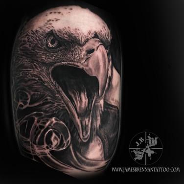 Bald eagle tattoo by James BRennan