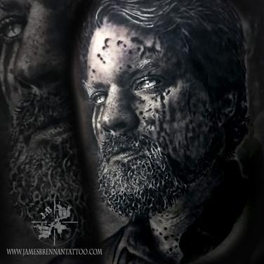 John Grant portrait tattoo