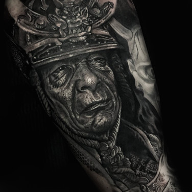 Samuria portrait tattoo