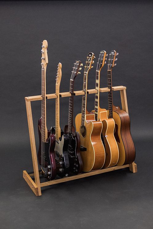 Solid Ash multi guitar stand