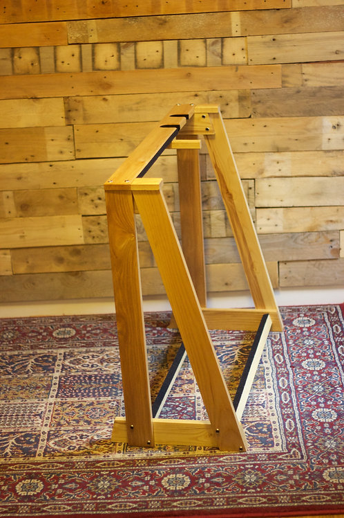 Solid oak/ash heavy duty guitar and case stand