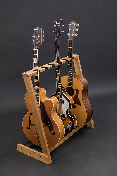 Solid Oak multi guitar stand