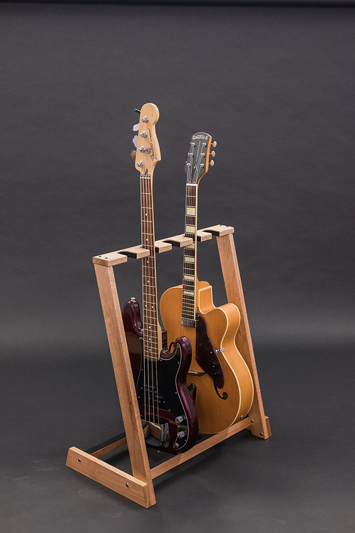 Solid Redwood multi guitar stand