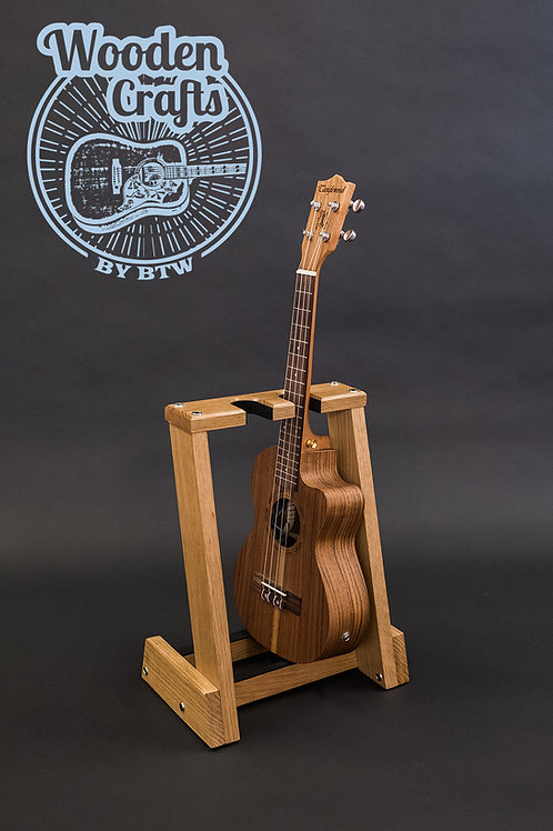 Solid wood ukulele stand