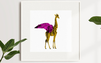 Flying Giraffe / Illustration