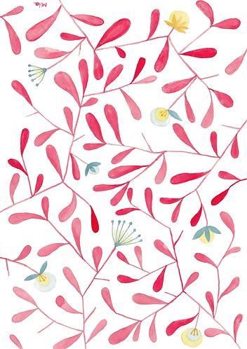 Rote Lebensblüten