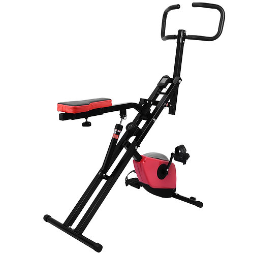 Folding Exercise Bike and Upright Squat Assist Row-N-Ride Trainer OT099
