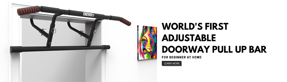 WORLD'S FIRST ADJUSTABLE DOORWAY PULL up