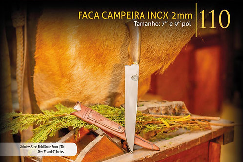 FACA CAMPEIRA INOX 2mm