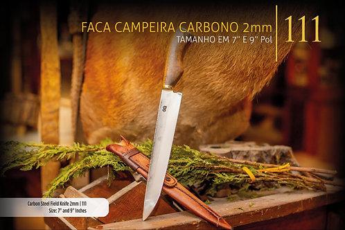FACA CAMPEIRA CARBONO 2mm