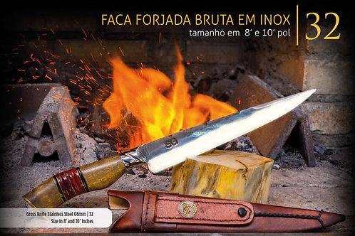 FACA FORJADA BRUTA EM INOX 6MM
