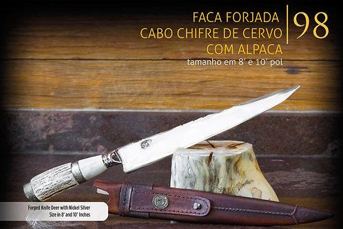 FACA FORJADA CERVO COM ALPACA