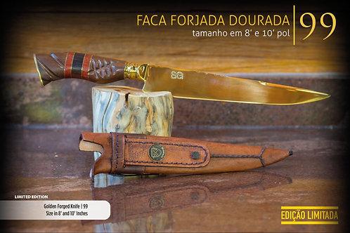 FACA FORJADA DOURADA