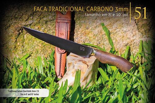 FACA TRADICIONAL CARBONO 3MM