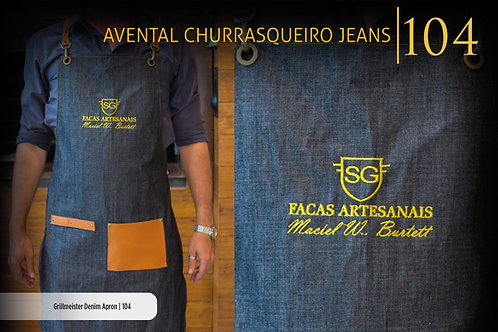 AVENTAL CHURRASQUEIRO JEANS
