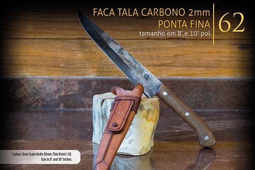 FACA TALA CARBONO PONTA FINA