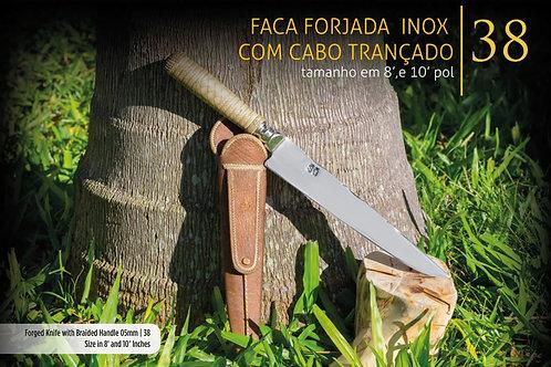 FACA FORJADA CABO TRANÇADO DE LONCA 5MM