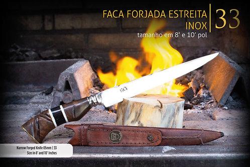 FACA FORJADA ESTREITA INOX