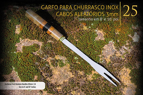 GARFO DE CHURRASCO COM CABO ALEATÓRIO