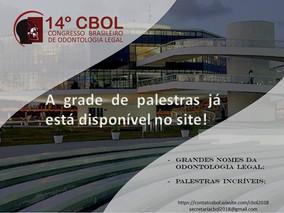 Grade de palestras do 14º CBOL já está disponível no site