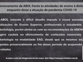 Posicionamento da ABOL frente às atividades de ensino à distância em tempos de pandemia COVID-19