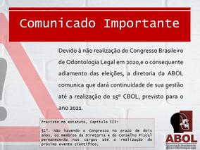 ABOL comunica o adiamento da eleição da próxima Diretoria
