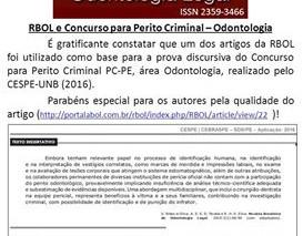 RBOL se firma como referência nacional em Odontologia Legal