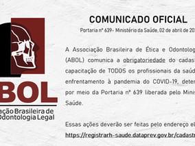 """Portaria nº 639- """"O Brasil conta comigo- Profissionais da Saúde"""""""