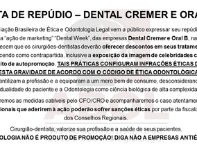 Dental Cremer e Oral B fazem ação de marketing que infringe o CEO.