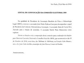 Convocadas as Eleições da ABOL 2018