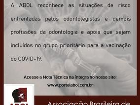 Apoio e recomendações em relação à vacinação contra o COVID 19