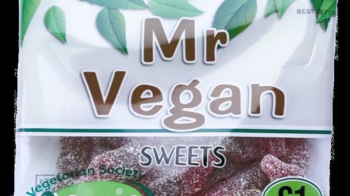 Mr Vegan Sour Cherry Cola Bottles