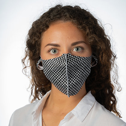 PROTECTIVE FACE MASK – US-SP2 WOMAN – SQUARE BLACK/WHITE