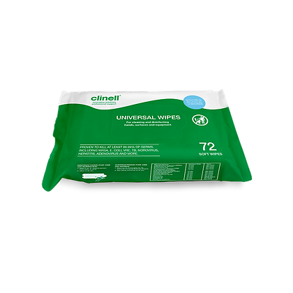 Clinell Wipes Kills 99.9% of Bacteria & Viruses including Coronavirus