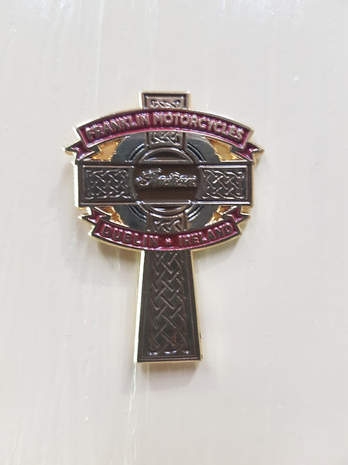 Celtic Cross pin By Franklin Motorcycles
