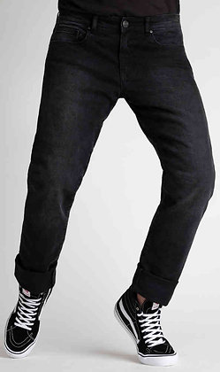Broger California Washed Black Motorcycle Jeans Mens