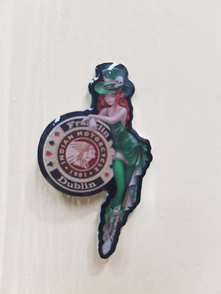 Franklin Motorcycles Lady Elf Pin