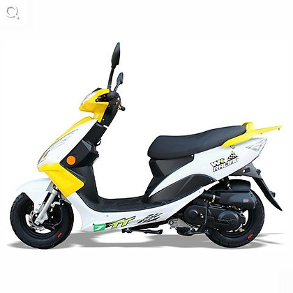 WK Bike - 50cc Learner Legal Scooters - White / Yellow